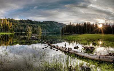 Photograph - Fish Lake Evening by Leland D Howard