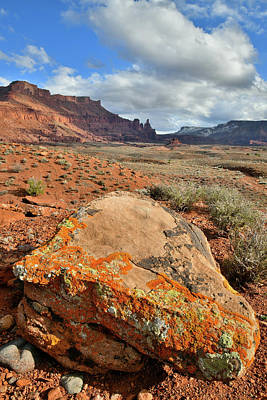 Photograph - Fisher Towers And Colorful Boulder In Utah by Ray Mathis