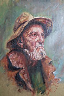 Painting - Fisherman by Shuanteya Sherman