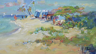 Wall Art - Painting - Fisherman's Beach by Kathryn McMahon