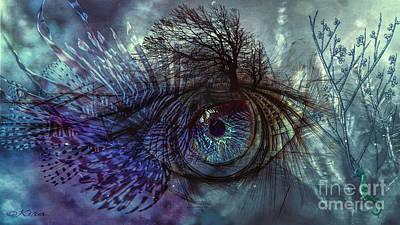 Digital Art - Fisheye by Kira Bodensted