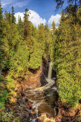 Photograph - Fishing At Cascade Falls by Susan Rissi Tregoning