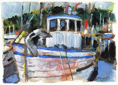 Painting - Fishing Boat at Garibaldi by Mike Bergen