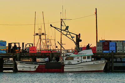 Photograph - Fishing Boat At Sunset by Lost River Photography