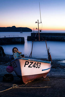 Fishing Boat In Mullion Cove Art Print