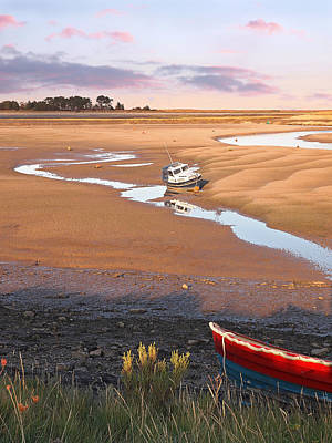 Photograph - Fishing Boat At Low Tide Wells Next The Sea by Gill Billington