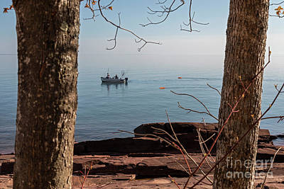 Photograph - Fishing Boat On Lake Superior by Jim West