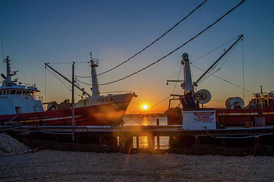 Photograph - Fishing Boat Sunrise - Cape May by Bill Cannon