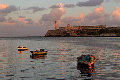 Photograph - Fishing Boats And El Morro Lighthouse by Adam Jones