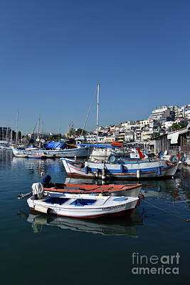 Photograph - Fishing Boats In Mikrolimano Port Iv by George Atsametakis