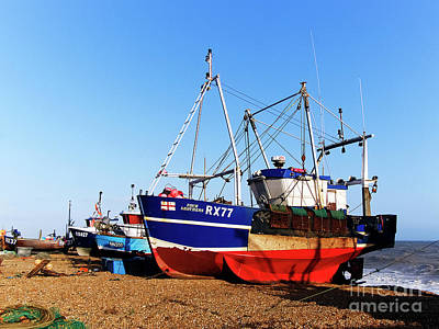 Photograph - Fishing Boats On Hastings Stade by Terri Waters