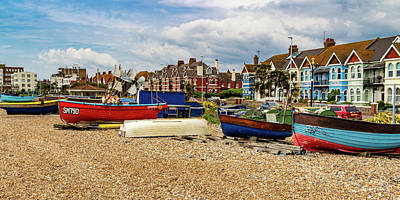 Wall Art - Photograph - Fishing Boats On Worthing Beach by Roslyn Wilkins