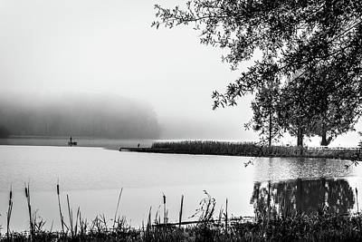 Photograph - Fishing In The Fog II by James L Bartlett
