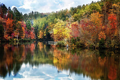 Photograph - Fishing In The Middle Of Autumn by Debra and Dave Vanderlaan