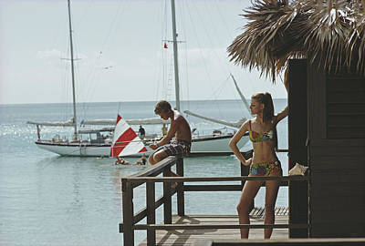 Exuma Photograph - Fishing On Honeymoon Porch by Slim Aarons