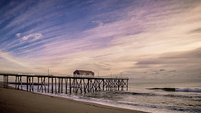 Photograph - Fishing Pier Sunrise by Steve Stanger