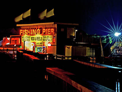 Photograph - Fishing Pier Tackle Shop by Bill Jonscher