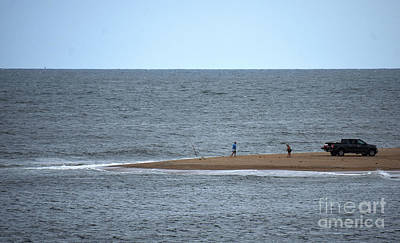 Photograph - Fishing The Point by Skip Willits