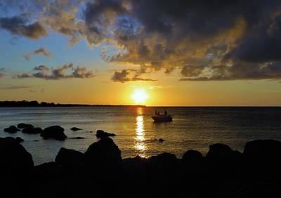 Photograph - Fishing The Point At Sunset by Joan Stratton