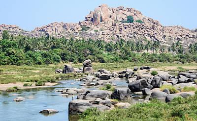 Karnataka Photograph - Fishing The Tungabhadra River. Hampi by Matthew P. Wicks