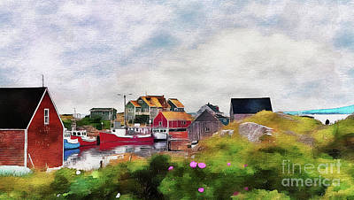 Photograph - Fishing Village 2 by Elaine Manley
