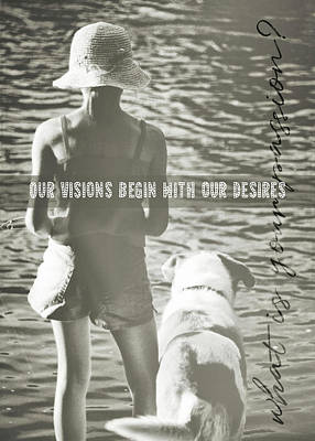 Fishing With The Pup Quote Art Print by JAMART Photography