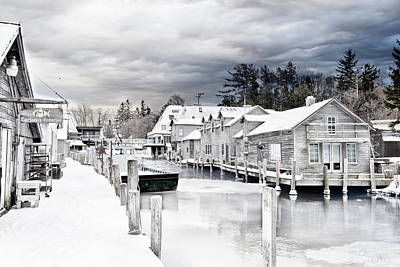 Photograph - Fishtown Michigan In February by Evie Carrier