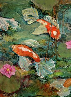Painting - Fishy Tales by Sandra Day