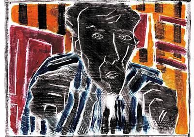 Relief - Fists Portrait 1 by Artist Dot