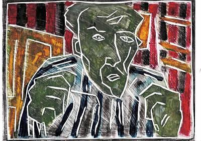 Relief - Fists Portrait 4 by Artist Dot