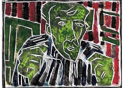 Relief - Fists Portrait 5 by Artist Dot