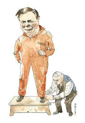 Painting - Fitting by Barry Blitt