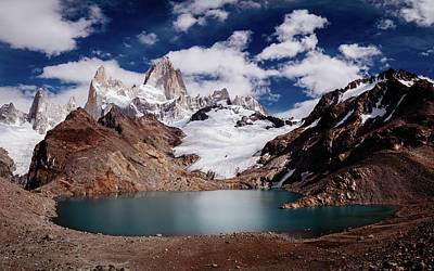 Michael Jackson - Fitz Roy with Lake in Argentinean Patagonia by Kamran Ali