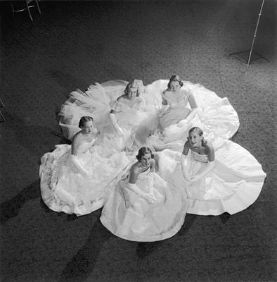 Photograph - Five Debutantes by Slim Aarons