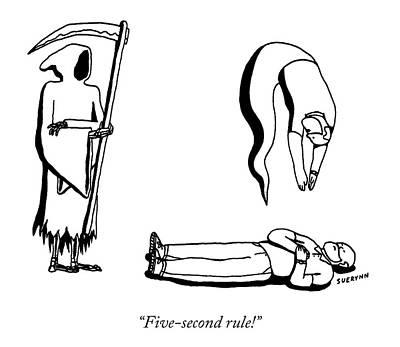 Drawing - Five Second Rule by Suerynn Lee