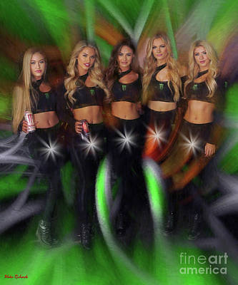 Photograph - Five Star Monster Energy Girls  by Blake Richards