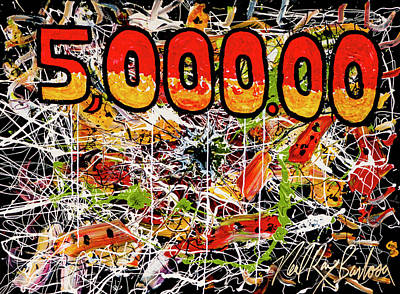 Painting - Five Thousand Smackers by Neal Barbosa