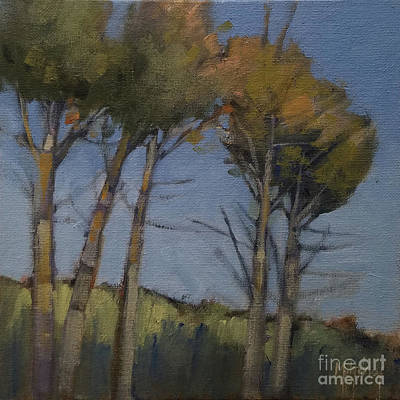 Painting - Five Trees by Mary Hubley