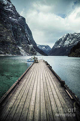 Royalty-Free and Rights-Managed Images - Fjord At The End Of The Pier by Evelina Kremsdorf