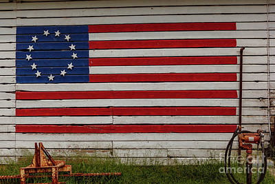 Photograph - Flag Barn by George Sheldon