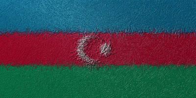 Digital Art - Flag Of Azerbaijan by Jeff Iverson