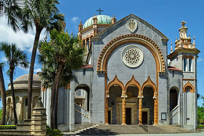 Photograph - Flagler Memorial Presbyterian Church, St Augustine by Kay Brewer
