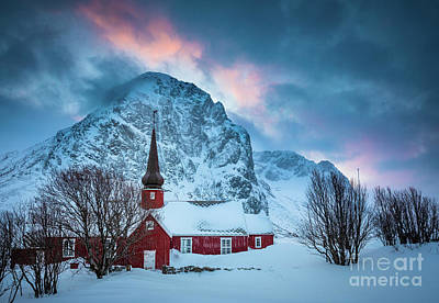 Photograph - Flakstad Kirke by Inge Johnsson
