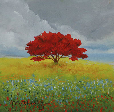 Painting - Flamboyant  In The Garden by Alicia Maury