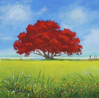 Painting - Flamboyant Near The Beach by Alicia Maury