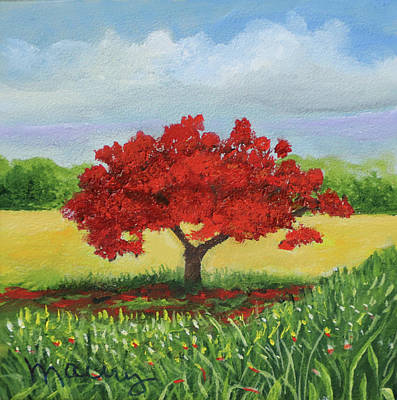 Painting - Flamboyant Near The Hill by Alicia Maury