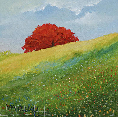Painting - Flamboyant Up To The Hill by Alicia Maury