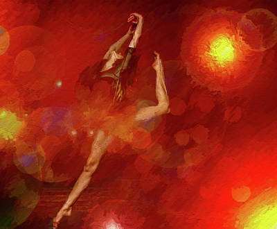 Mixed Media - Flamenco Ballet by Clive Littin