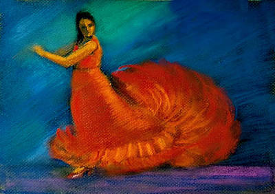 Painting - Flamenco Dance 2 by Asha Sudhaker Shenoy