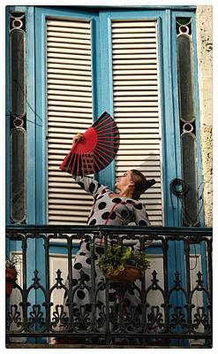 Photograph - Flamenco With Fan by Jeffrey PERKINS